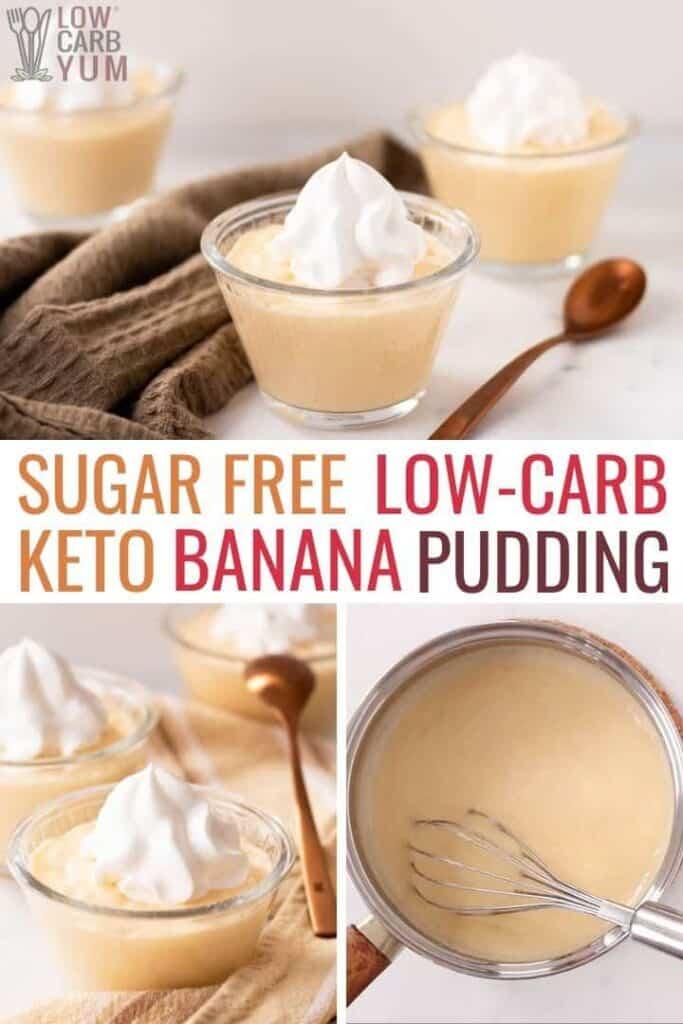sugar free keto banana pudding