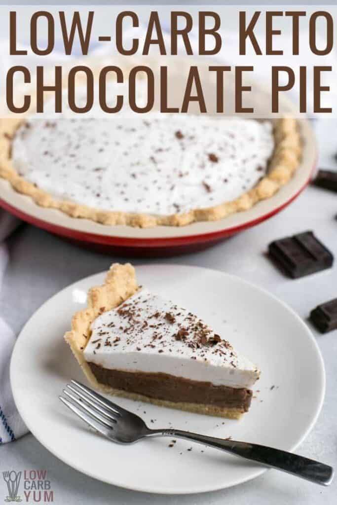 sugar free keto chocolate pie recipe