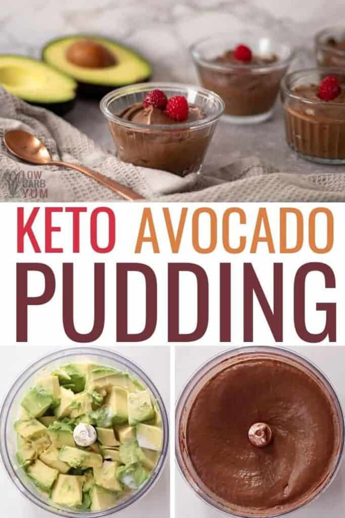 keto avocado pudding
