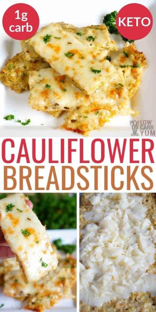 keto cauliflower breadsticks