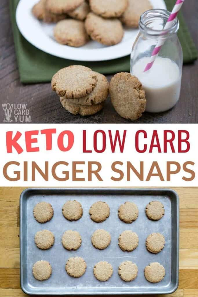 keto ginger snaps cookies