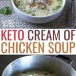 low carb keto cream of chicken soup