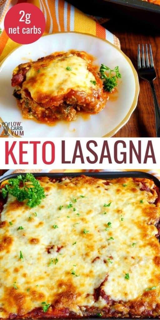 low carb keto lasagna recipe