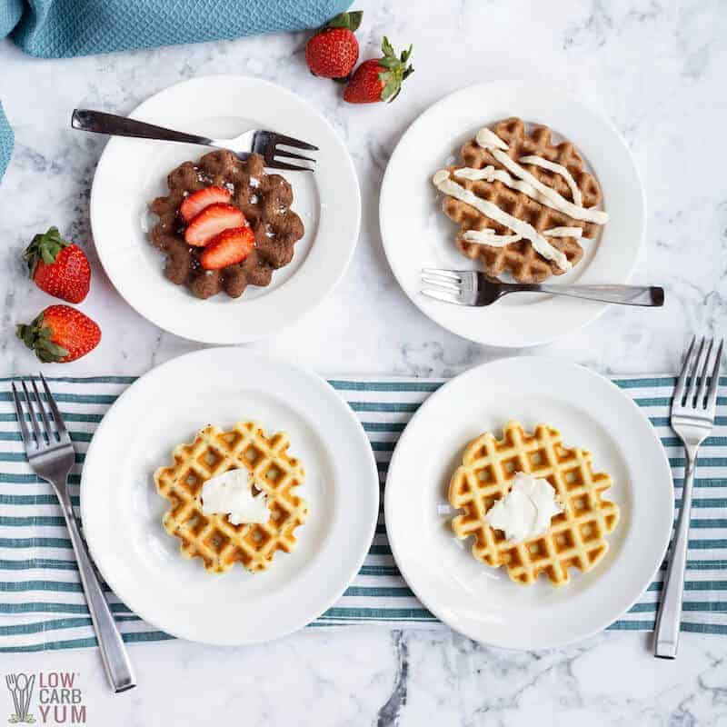 Keto Waffles For A Dash Mini Waffle Maker Low Carb Yum