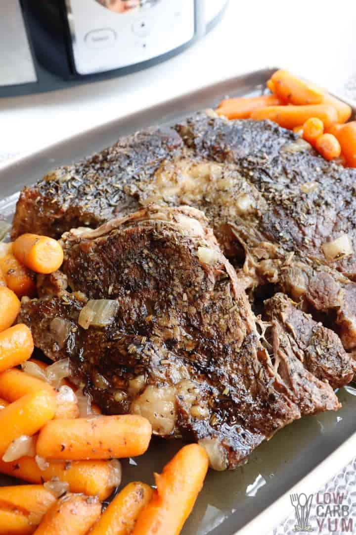 low carb slow cooker pot roast recipe