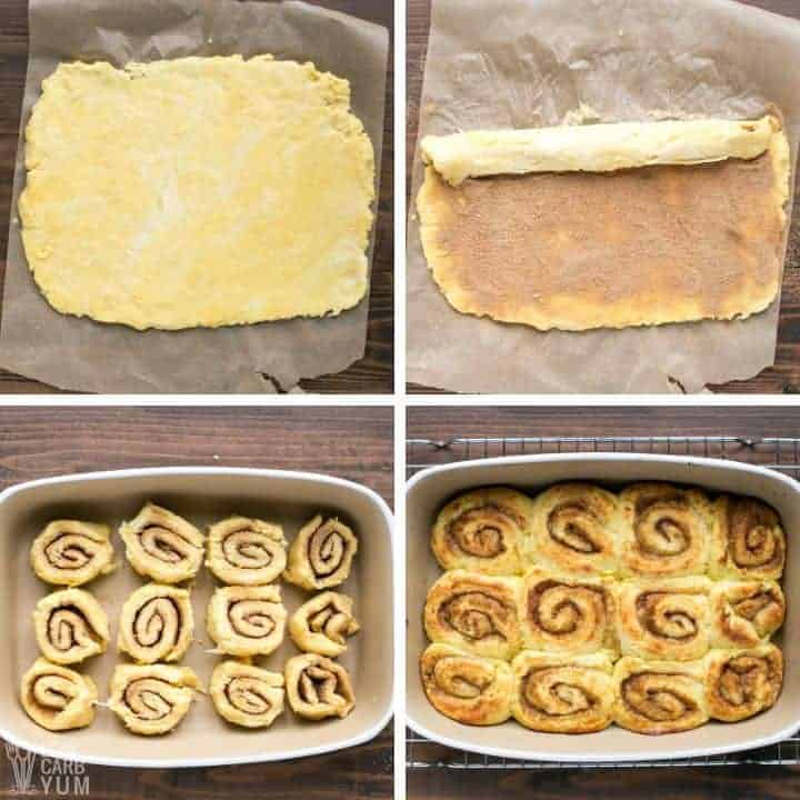 making and baking rolls