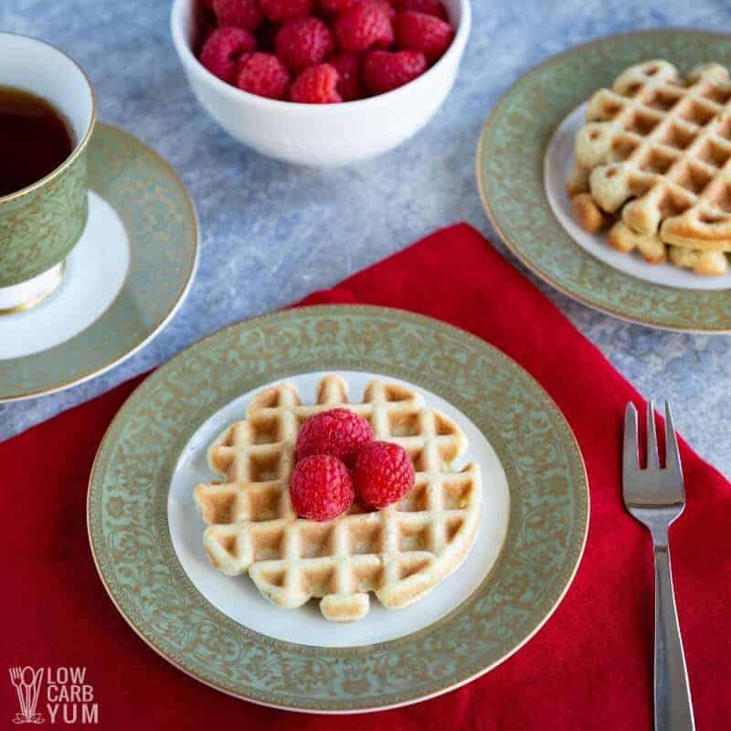 vanilla cake waffle