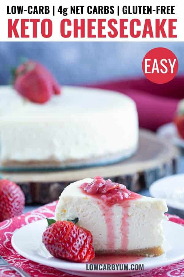 low carb keto cheesecake recipe