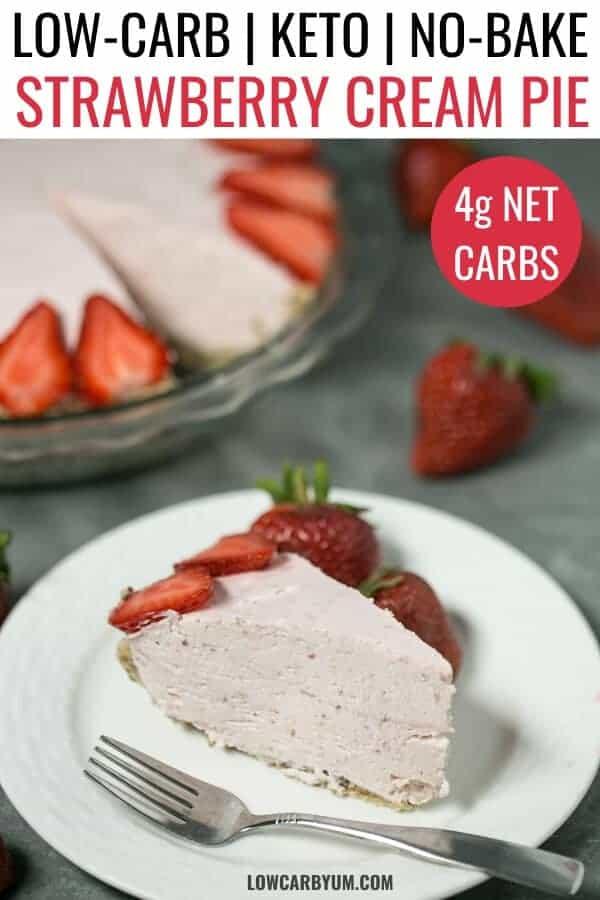 keto strawberry cream pie recipe