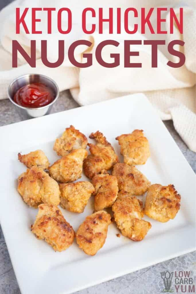 low carb keto chicken nuggets recipe