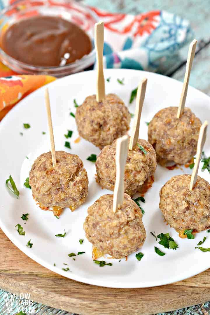 low carb sausage balls