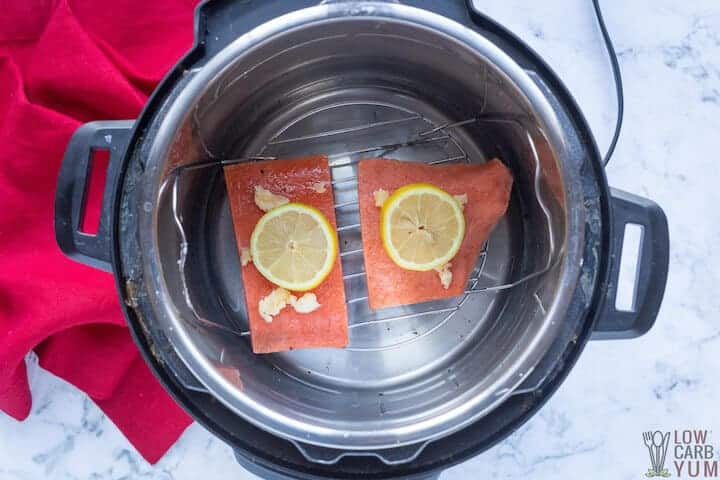 frozen salmon before cooking