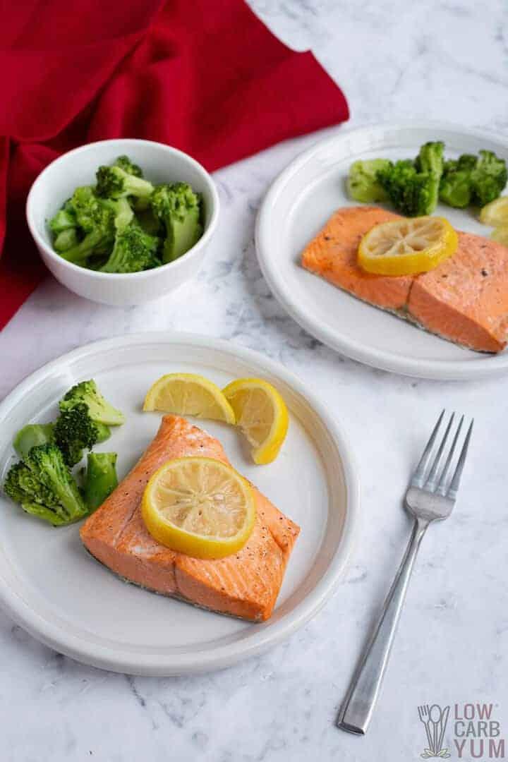 serving instant pot salmon
