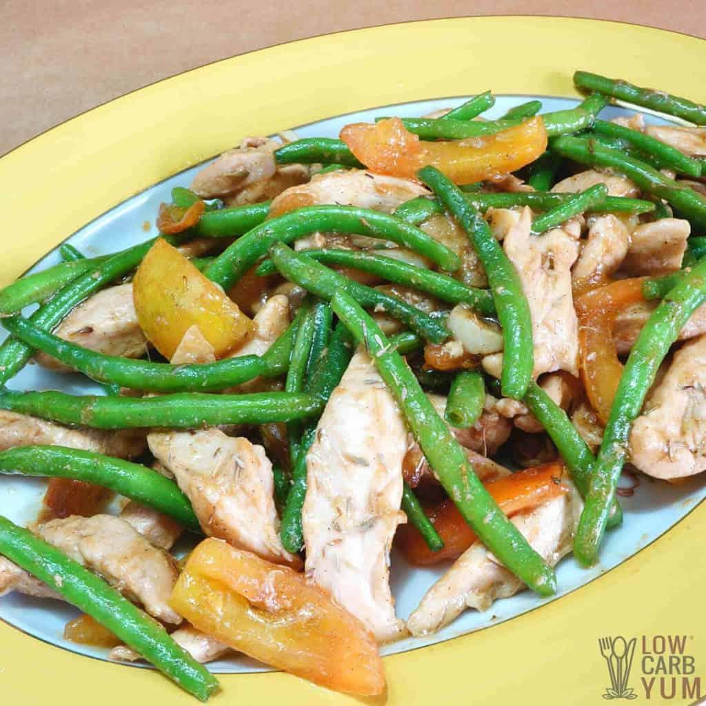 chicken green bean stir fry