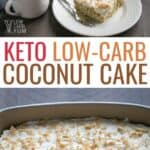 low carb keto coconut cake