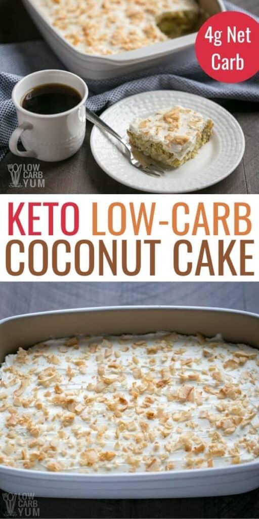 low carb keto coconut cake