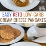 easy keto low carb cream cheese pancakes