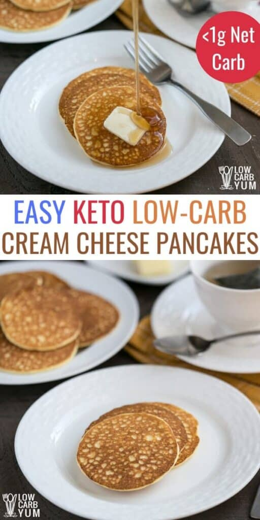 easy keto low carb cream cheese pancakes
