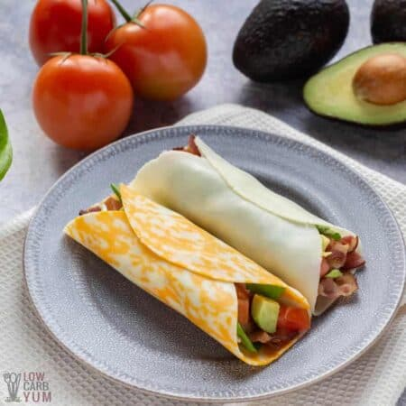keto blt cheese wraps