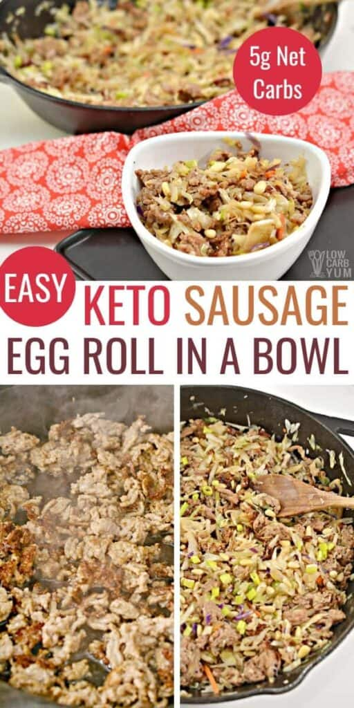 keto sausage egg roll in a bowl recipe