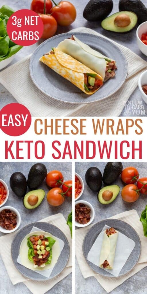 low carb keto blt cheese wraps