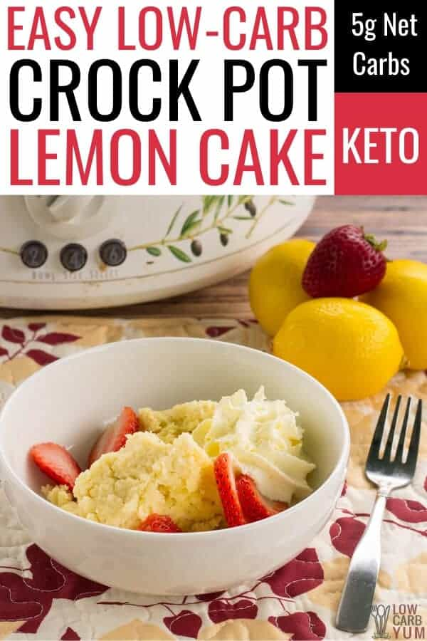 crock pot keto lemon cake