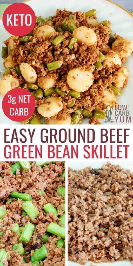 easy ground beef green bean skillet