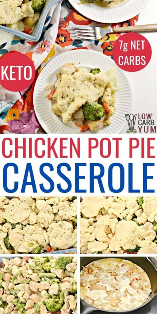 keto chicken pot pie casserole