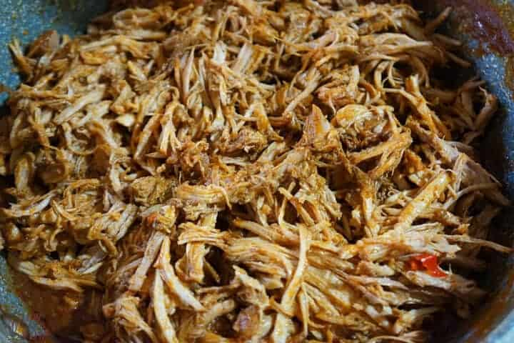 shredded pork in sauce
