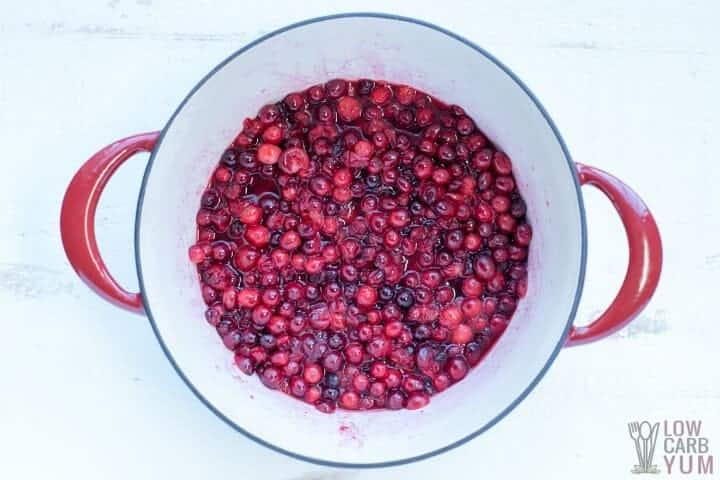 cooking berries in water