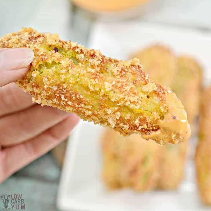 keto air fryer fried pickles