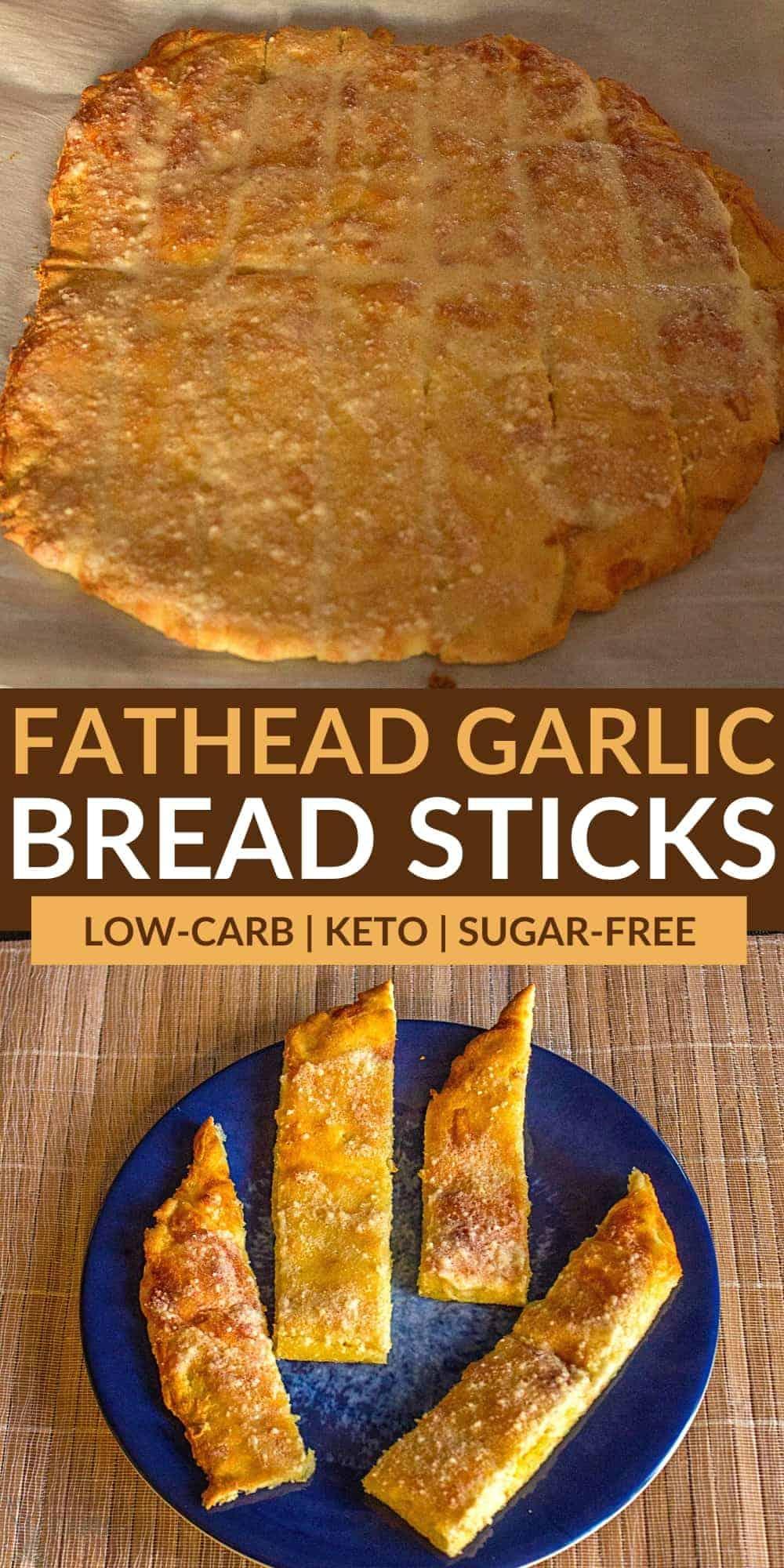 keto bread sticks pinterest image