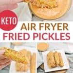 keto fried pickles in air fryer