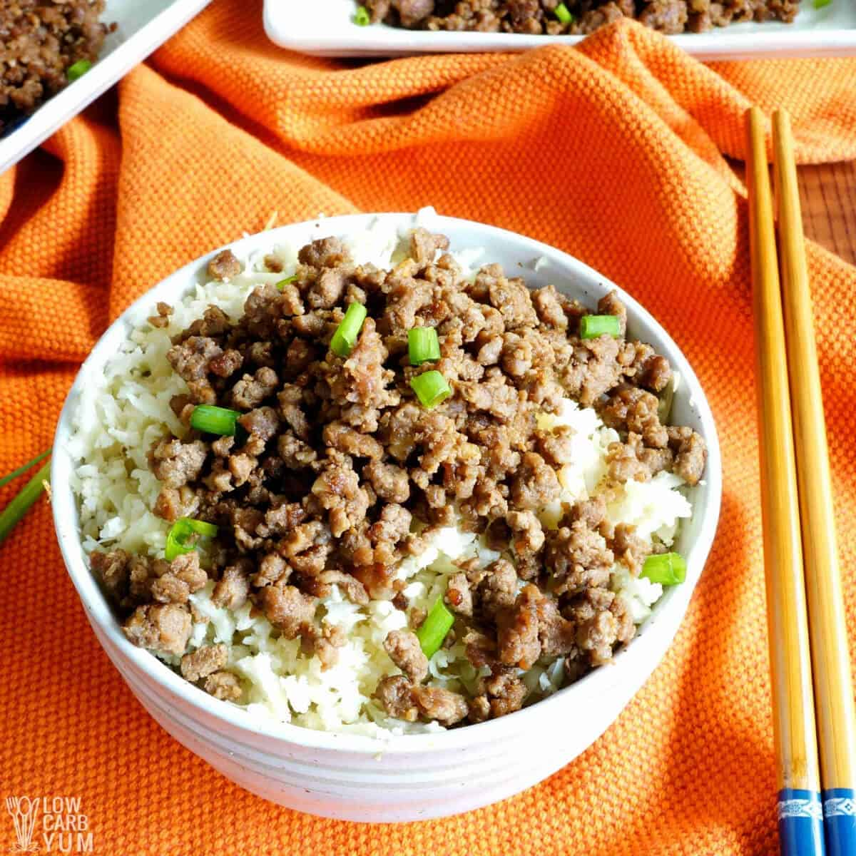 keto korean ground beef bowl