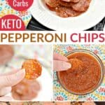 keto pepperoni chips recipe