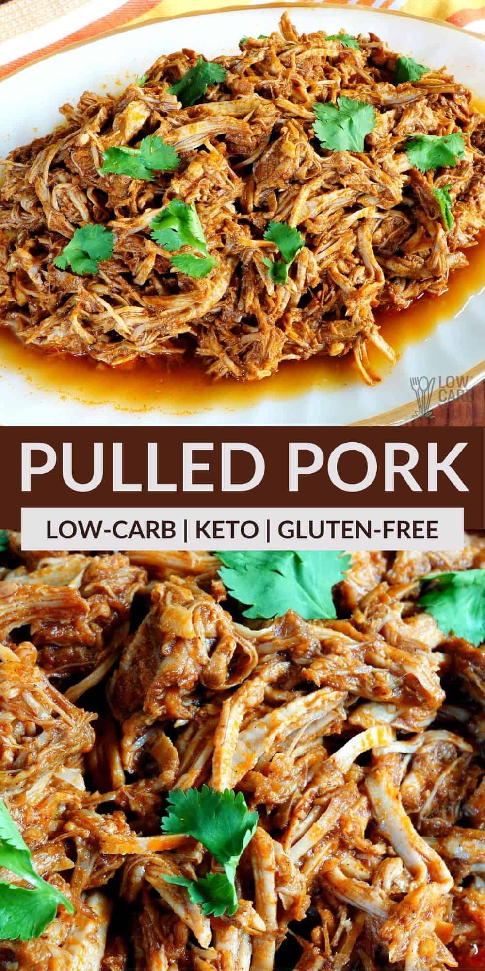 keto pulled pork pinterest image