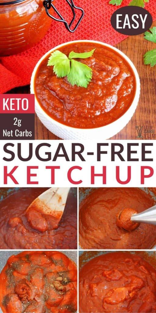 keto sugar free ketchup recipe