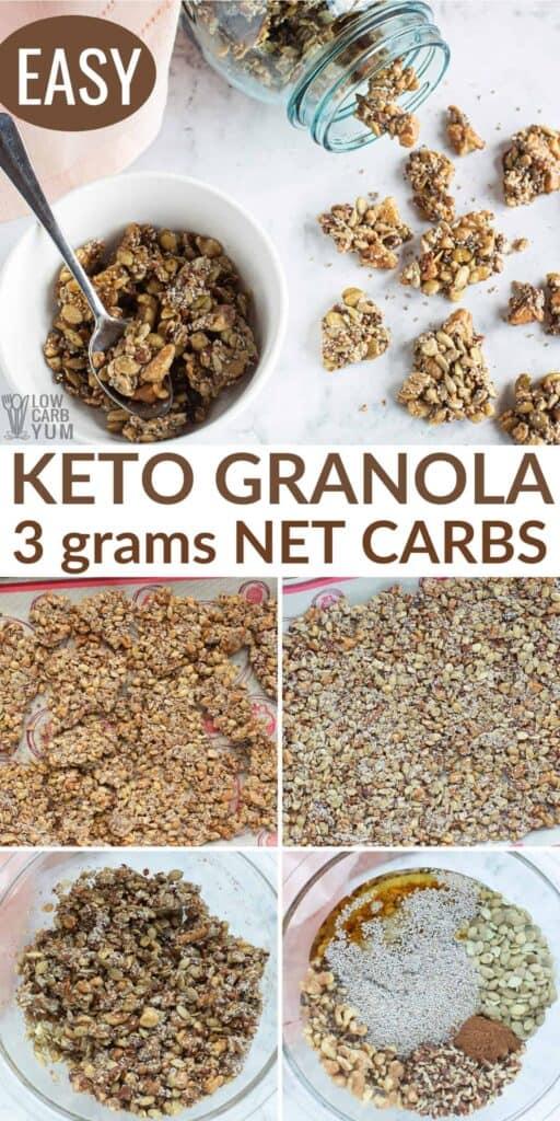 low carb keto granola recipe