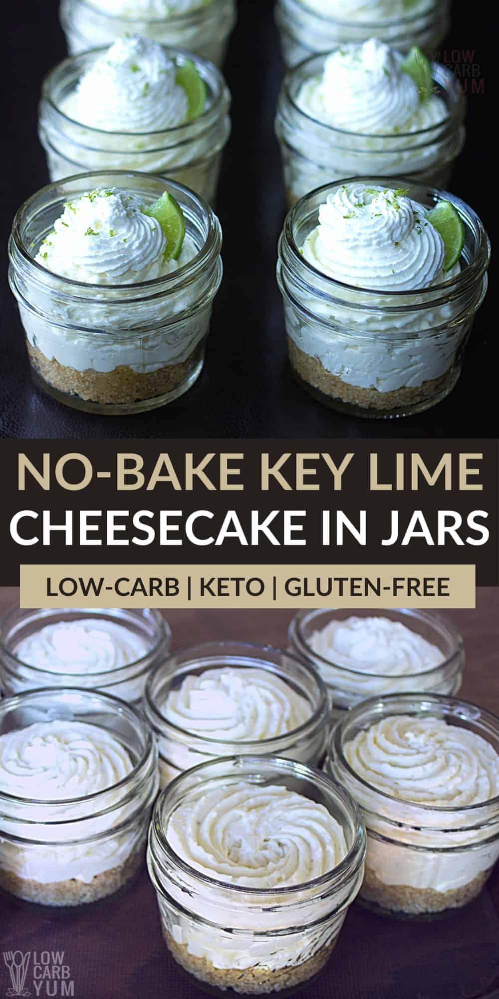 no bake keto key lime cheesecake pinterest image