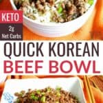 quick korean ground beef bowl