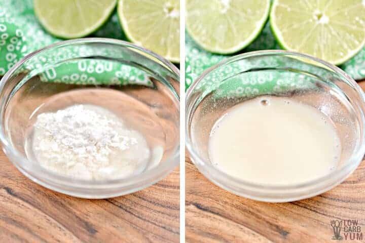 sweetener water mixture