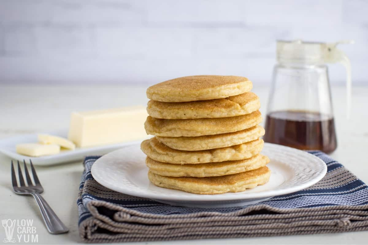 almond flour pancake stack