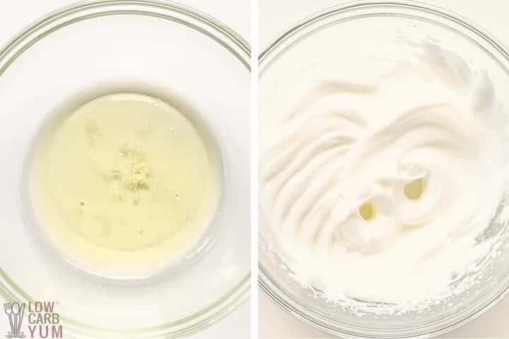 beaten egg whites