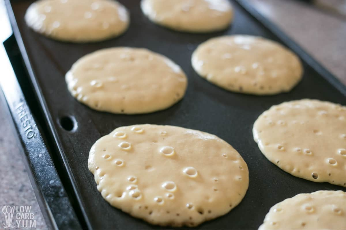 cooking on griddle