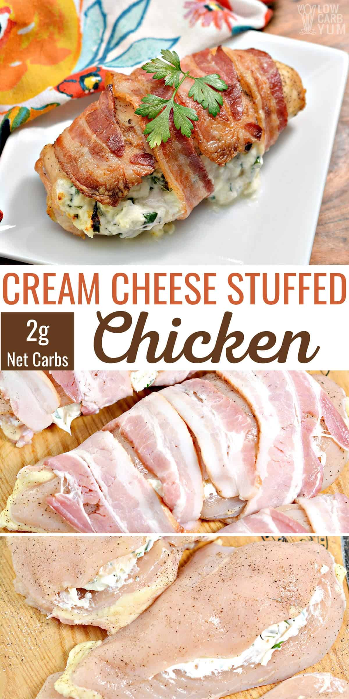 cream cheese stuffed chicken recipe