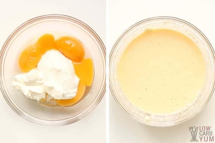egg yolk mixture