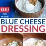 homemade keto blue cheese dressing