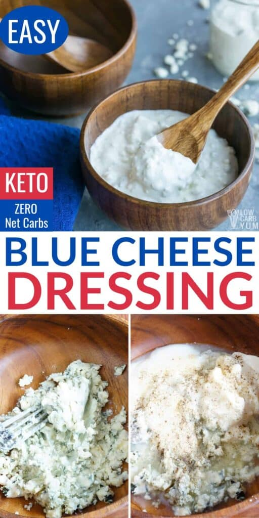 homemade keto blue cheese dressing