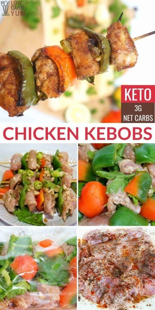 keto chicken shish kebobs