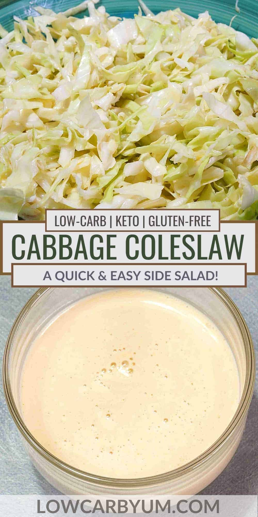 keto cabbage coleslaw pinterest image